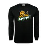 Black Long Sleeve TShirt-Lions w/Lion