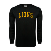 Black Long Sleeve TShirt-Arched Lions