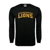 Black Long Sleeve TShirt-Arched Southeastern Lions