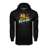 Under Armour Black Performance Sweats Team Hoodie-Lions w/Lion