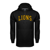 Under Armour Black Performance Sweats Team Hoodie-Arched Lions