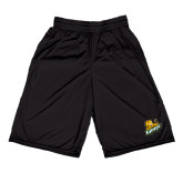 Russell Performance Black 9 Inch Short w/Pockets-Lions w/Lion