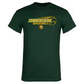 Dark Green T Shirt-Southeastern Baseball w/ Ball