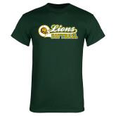 Dark Green T Shirt-Lions Softball Script w/ Ball
