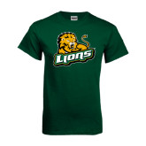 Dark Green T Shirt-Lions w/Lion