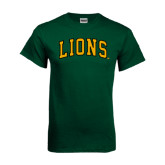 Dark Green T Shirt-Arched Lions