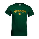 Dark Green T Shirt-Arched Southeastern Louisiana