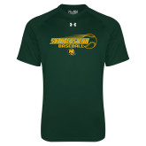 Under Armour Dark Green Tech Tee-Southeastern Baseball w/ Ball