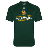 Under Armour Dark Green Tech Tee-Volleyball Can You Dig It