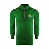 Under Armour Dark Green Tech 1/4 Zip Performance Shirt-Lions w/Lion
