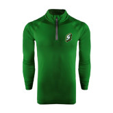 Under Armour Dark Green Tech 1/4 Zip Performance Shirt-S