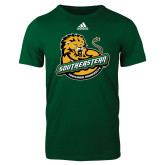 Adidas Dark Green Logo T Shirt-Official Logo