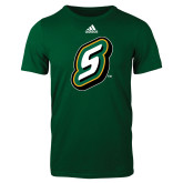 Adidas Dark Green Logo T Shirt-S