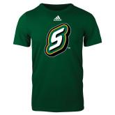 Adidas Dark Green Logo T Shirt-S