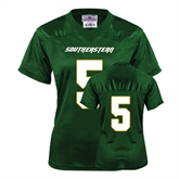 Ladies Dark Green Replica Football Jersey-#5