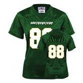 Ladies Dark Green Replica Football Jersey-#88