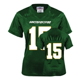 Ladies Dark Green Replica Football Jersey-#15