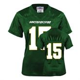 Ladies Dark Green Replica Football Jersey-#15