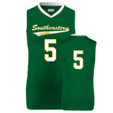 Replica Dark Green Adult Basketball Jersey-#5