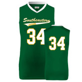Replica Dark Green Adult Basketball Jersey-#34