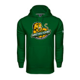 Under Armour Dark Green Performance Sweats Team Hoodie-Official Logo