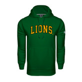 Under Armour Dark Green Performance Sweats Team Hoodie-Arched Lions