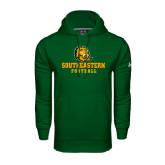 Under Armour Dark Green Performance Sweats Team Hoodie-Football