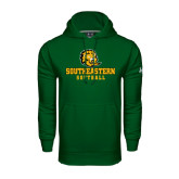 Under Armour Dark Green Performance Sweats Team Hoodie-Softball
