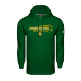 Under Armour Dark Green Performance Sweats Team Hoodie-Southeastern Baseball w/ Ball