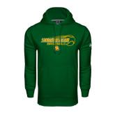 Under Armour Dark Green Performance Sweats Team Hoodie-Southeastern Baseball w/ Ball