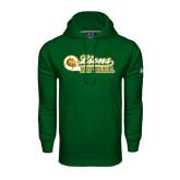 Under Armour Dark Green Performance Sweats Team Hoodie-Lions Softball Script w/ Ball