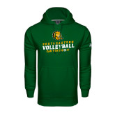 Under Armour Dark Green Performance Sweats Team Hoodie-Volleyball Can You Dig It