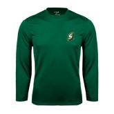 Performance Dark Green Longsleeve Shirt-S
