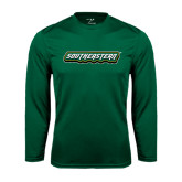 Syntrel Performance Dark Green Longsleeve Shirt-Southeastern