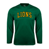 Syntrel Performance Dark Green Longsleeve Shirt-Arched Lions