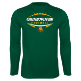 Syntrel Performance Dark Green Longsleeve Shirt-Southeastern Football