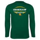 Performance Dark Green Longsleeve Shirt-Southeastern Football