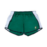 Ladies Dark Green/White Team Short-S