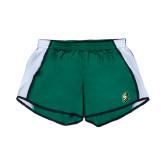 Ladies Dark Green/White Team Short-S