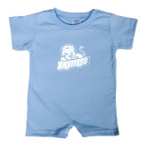 Light Blue Infant Romper-Lions w/Lion