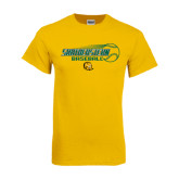 Gold T Shirt-Southeastern Baseball w/ Ball
