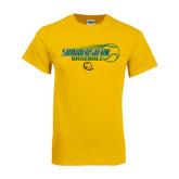Gold T Shirt-Southeastern Baseball w/ Ball