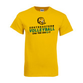 Gold T Shirt-Volleyball Can You Dig It