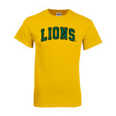 Gold T Shirt-Arched Lions