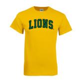 Gold T Shirt-Arched Lions