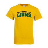 Gold T Shirt-Arched Southeastern Lions