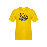 Youth Gold T Shirt-Official Logo Distressed