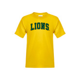 Youth Gold T Shirt-Arched Lions