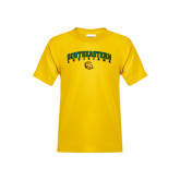 Youth Gold T Shirt-Arched Southeastern Louisiana