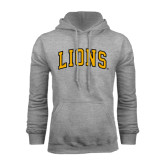 Grey Fleece Hoodie-Arched Lions